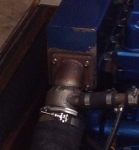 exhaust elbow repaired