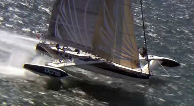 Manic Monday Video: l'Hydroptere, the Flying Foiling Sailboat thumbnail