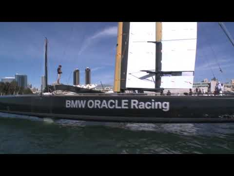 Larry Ellison's Trimaran Flies on a Wing thumbnail
