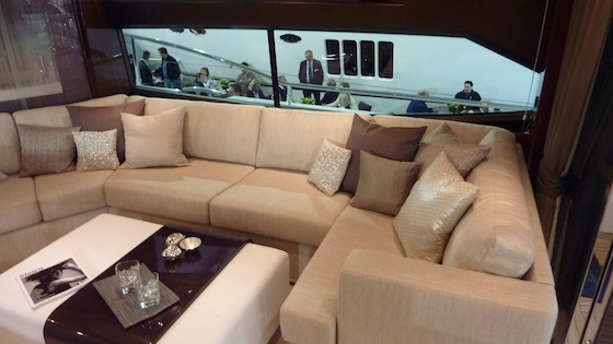 The starboard side of the saloon