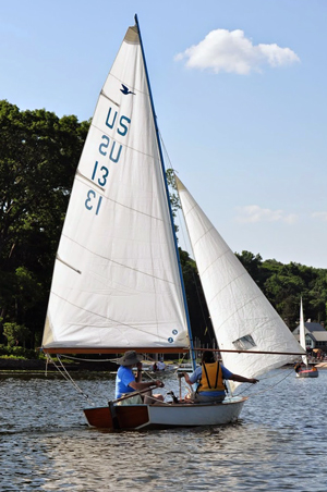 Snipe number 13, the oldest boat to go sailing, won the sailor's choice award.