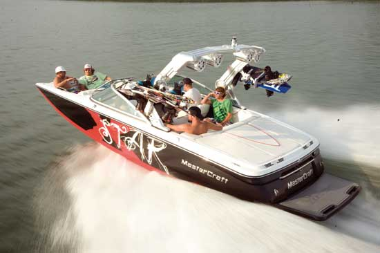 In 2012 this Mastercraft will be powered with Ilmor engines.