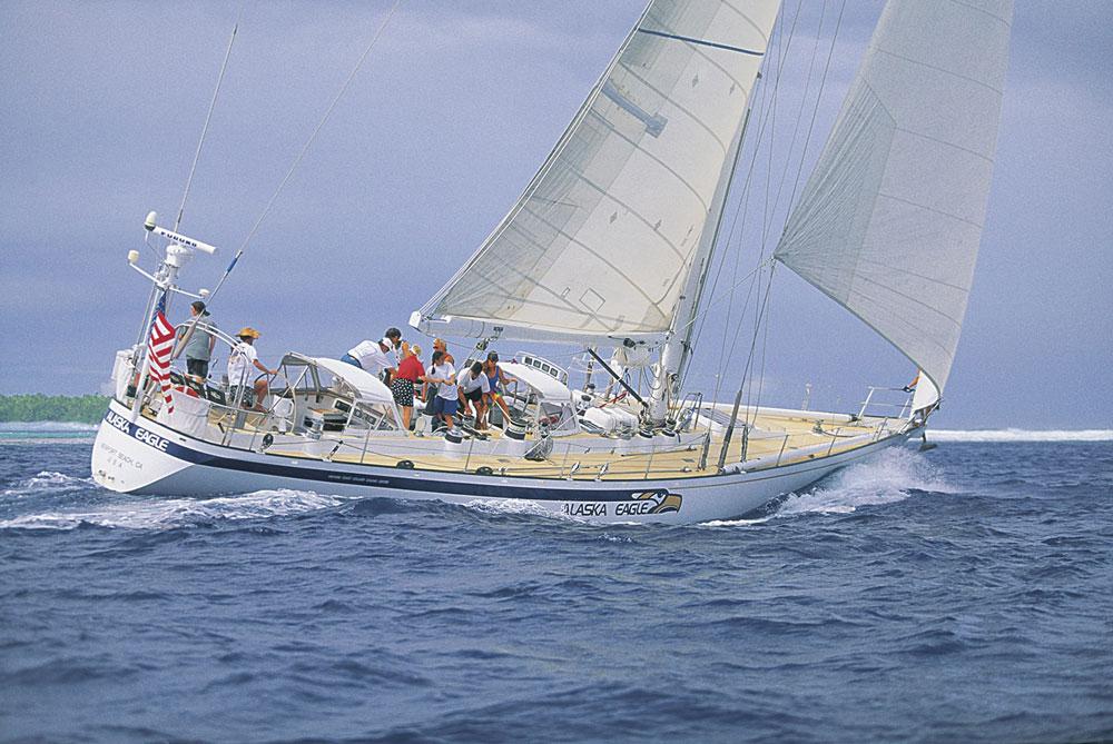 Alaska Eagle under sail