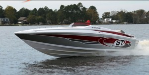 The Baja Marine plant currently is building Baja sportboats from 23 to 35 feet in four model lines. The new Baja 30 GT shown above will debut at the upcoming Fort Lauderdale International Boat Show.