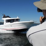 Beneteau Barracuda 9 running and filming