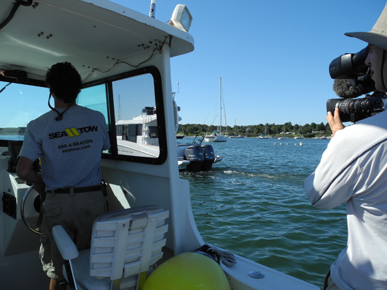 Beneteau video chase boat