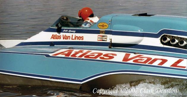 Blue Blaster Atlas Van Lines hydroplane 1978 running