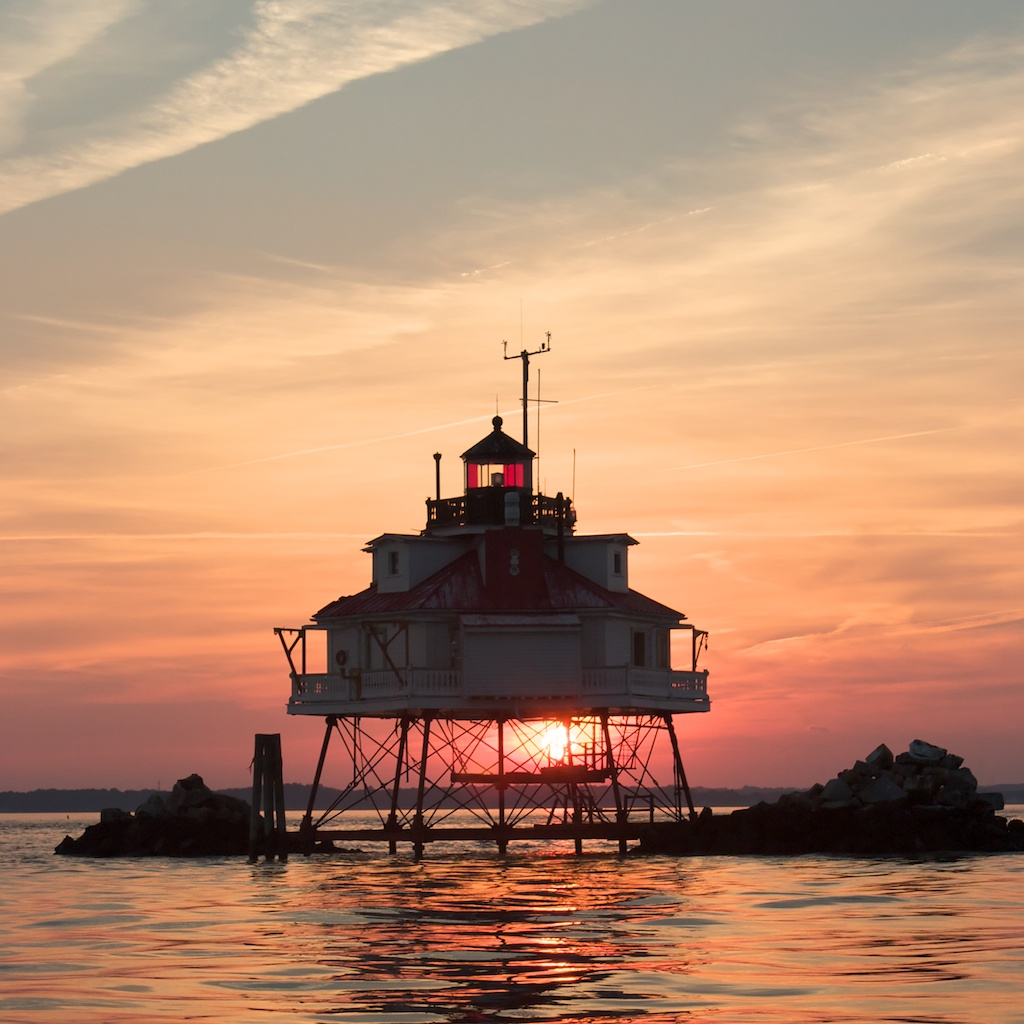 Thomas Point Lighthouse is one of the most photographed lighthouses in the world. You can see why in this sunset picture taken in 2003.