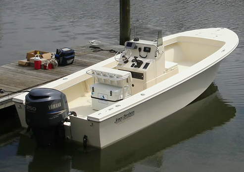 A photo of teh Cape Fisherman 23 powerboat.