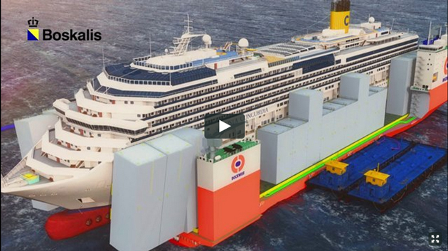 Costa Concordia dockwise animation