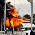 Yacht Kahu Catches Fire, Sinks, and is Salvaged