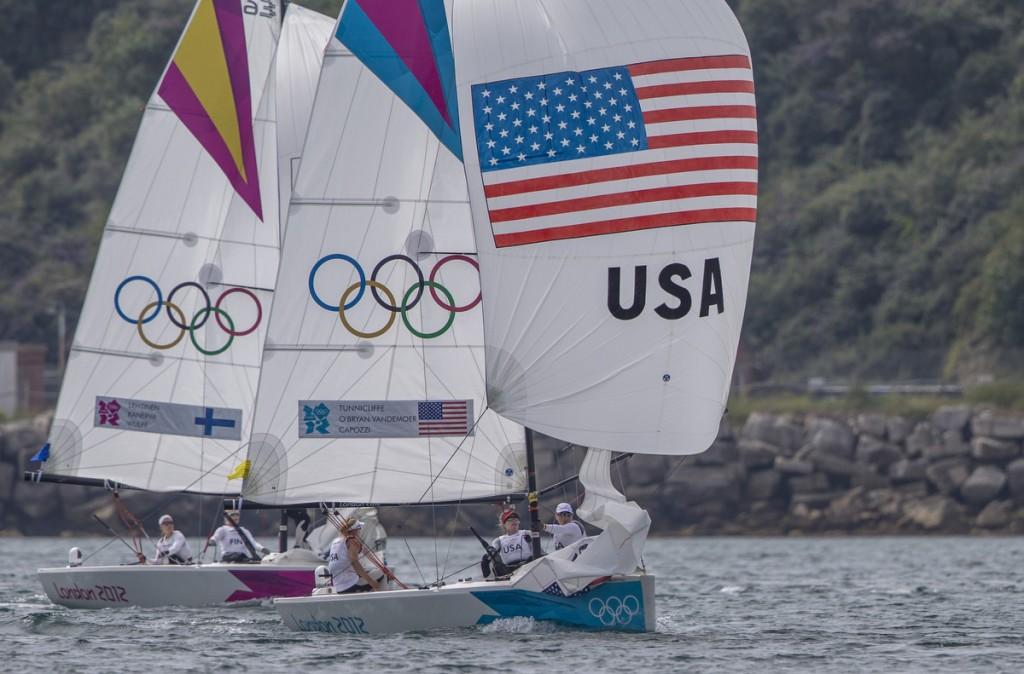 London 2012 Olympics Women's Match Racing USA vs FIN