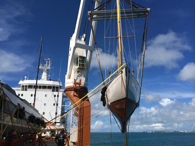 Dorade loads in Bermuda