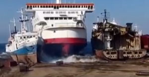 Pride of Calais last landing place video