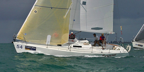 ... how bold the J/105 design was back then. Photo courtesy of J Boats