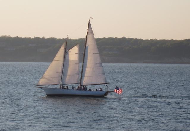 The charter schooner Madeleine, of Newport, Rhode Island.