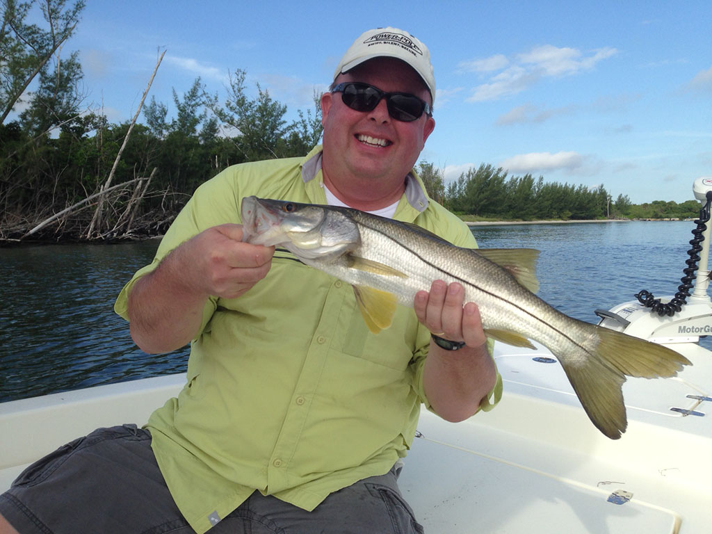 My first snook. The fish was released to fight another day. Photo: Capt. John Meskauskas