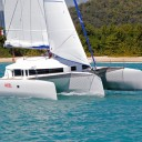 Neel 45 trimaran under sail