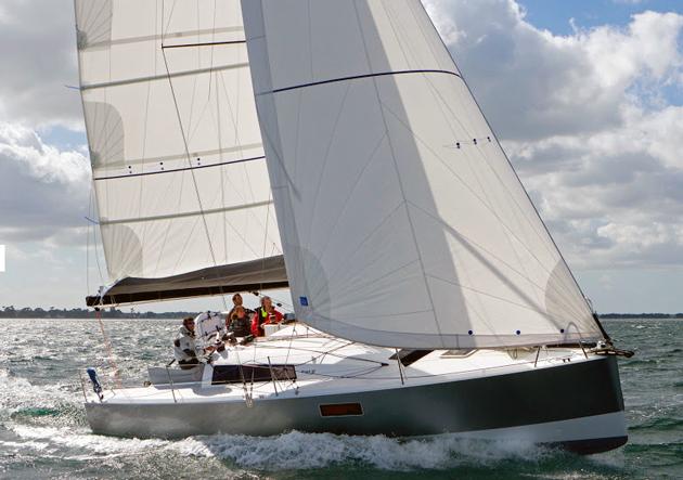 Pogo 30 sailing upwind