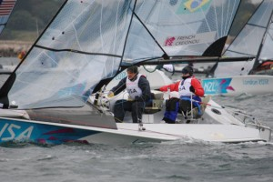 Jen French and JP Creignou won both races on the windiest day of the 2012 Paralympics.