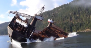 Log barge in british columbia