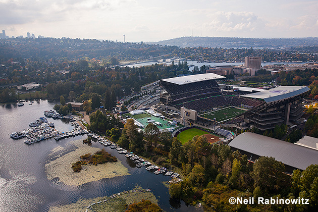 With the Seattle Space Needle visible in the distance, Husky Stadium is one of the most beautiful football venues in the country. And for transom-gaters, when the game is over, there's no traffic -- just cast off and keep cruising.