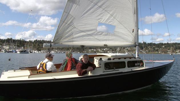 Thunderbird sailboat with the Boat Guy Chip Hanauer