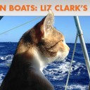Liz Clark cat Amelia on boat