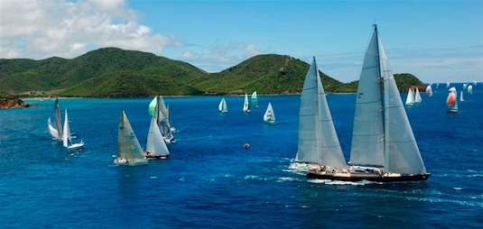 Action at Stanford Antigua Sailing Week