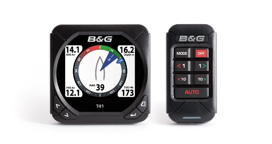 Slim and communicative, are B & G's new T41 and Autopilot Control.