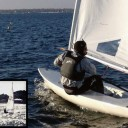 Joe Berkeley frostbiting and sailing Lasers back in the day.