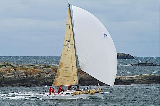 Tjorn Runt winner, the J/109 Blur. Photo by Bo Bergqvist
