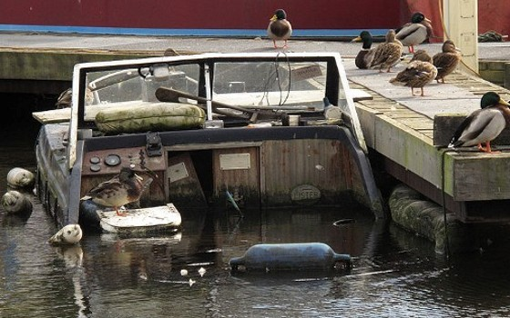 Next to the dock is a common place for boats to sink - don't let this happen to yours!