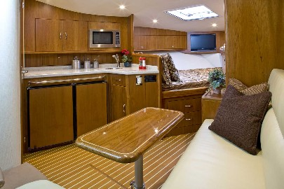 The Cabo 36 Express gets a new interior, which you can see at the Fort Lauderdale boat show.