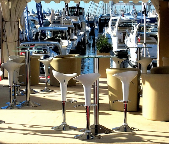 Even before the crowds arrive, the Cannes International Boat & Yacht Show has a unique and stylish look.