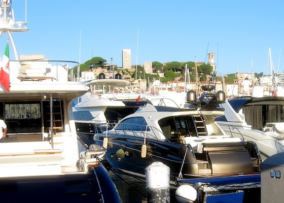 The docks of the Cannes International Boat & Yacht Show
