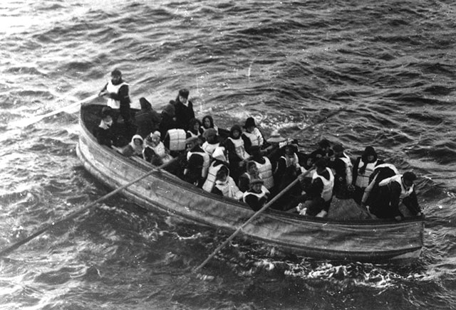 Lifeboat full of people