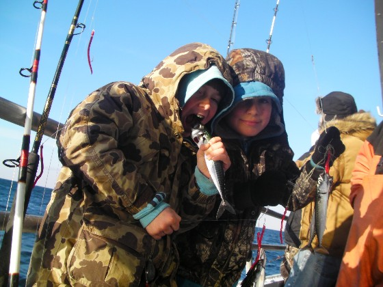 Boating and fishing in the middle of the winter may be cold, but for die-hard boaters like these, it's well worth the effort.