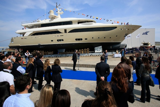 At 43 meters (141'), the superyacht Sofico, built by CRN in Italy