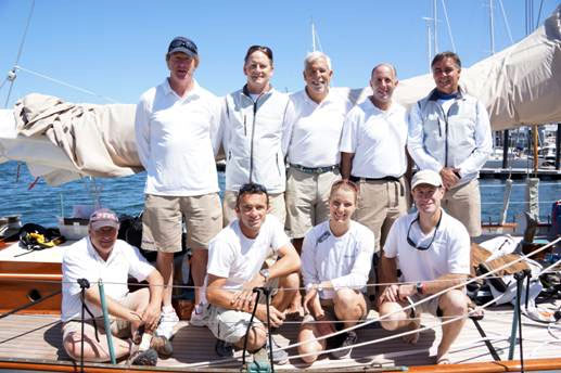 Dorade's Bermuda race crew paused for a photo just before leaving the dock in Newport.