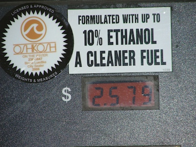 Ethanol has been approved for sale at some pumps as a 15-percent blend.