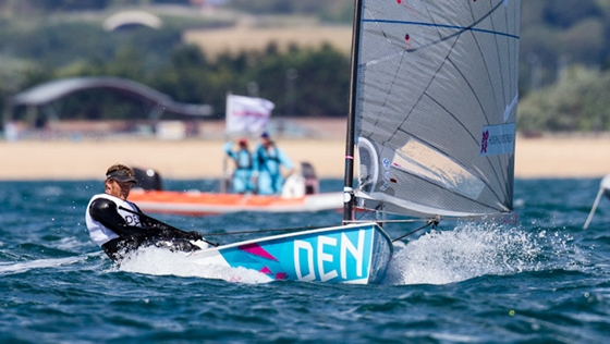 Danish sailor Jonas Hogh-Christensen dominated the first two races in the Finn class.