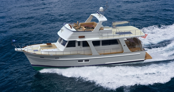 A rendering of the upcoming Grand Banks 54 Heritage EU.