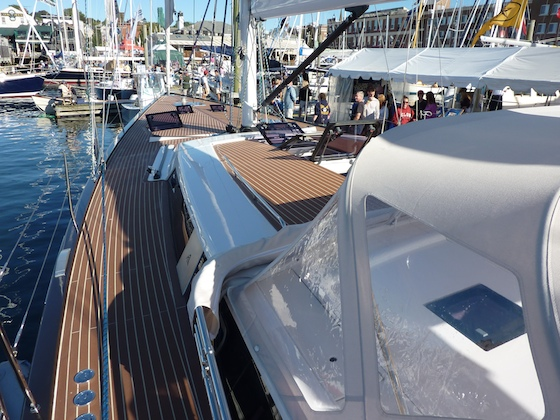 The Hanse 63 was queen of the sailboat side of the show.