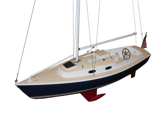 The Harbor 30 comes wheel-equipped and with easy sail controls of its smaller sisters.