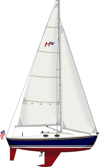 The moderate foils and sailplan promise good performance as well as good looks.