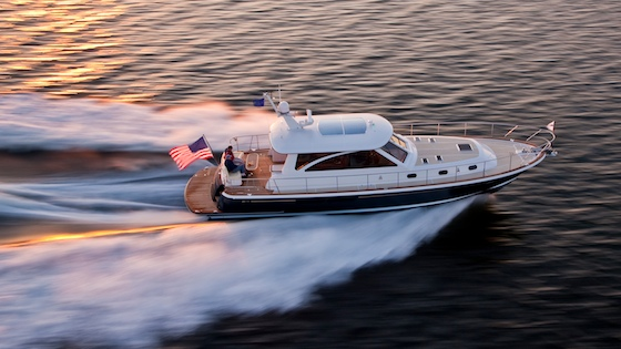 The new Hunt 52 runs up Narragansett Bay, R.I.