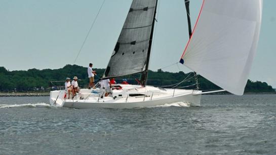J/111 One-Design sailing under spinnaker