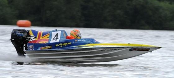 Ben Jelf on his way to winning his second UIM GT15 European Championship title.