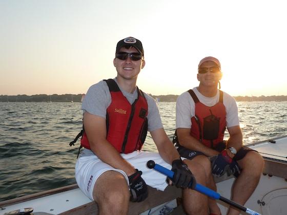 Sailing home with my namesake, Newport, Rhode Island, August 10, 2010 - Two John Burnhams